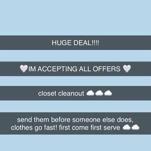 IM ACCEPTING EVERY OFFER!!!
